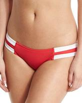 Seafolly Block Party Spliced Hipster Swim Bottom, Chili