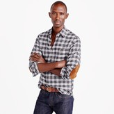J.Crew Cotton-wool elbow-patch shirt in heather grey plaid