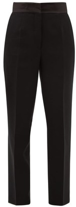 Etro Torbay High-rise Wool Tapered Trousers - Womens - Black
