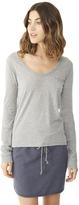 Alternative Rib Sleeve Satin Jersey T-Shirt