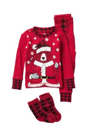 Petit Lem Long Sleeve Pajama Set & Socks (Baby)