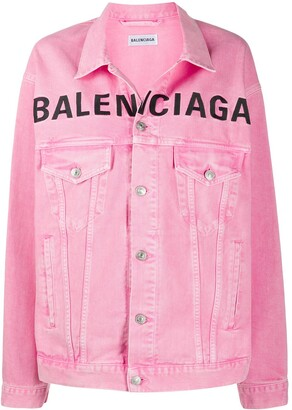 Balenciaga Embroidered Logo Denim Jacket