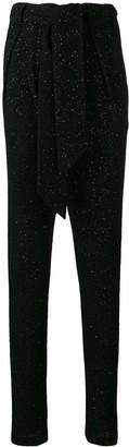 Talbot Runhof Glitter Tapered Trousers