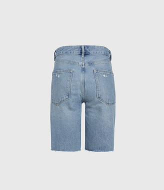 AllSaints Barry Long Denim Shorts