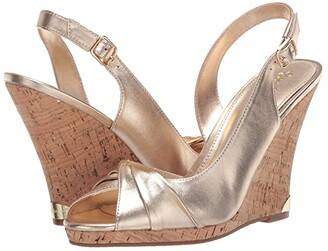Lilly Pulitzer Christine Wedge (Gold Metallic) Women's Shoes