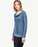 Ann Taylor Petite Merino Wool Cowl Neck Sweater