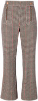 See by Chloe cropped houndstooth trousers - women - Polyamide/Polyester/Wool/Cotton - 38