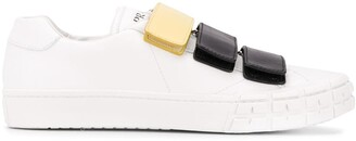 Prada Touch Strap Leather Sneakers