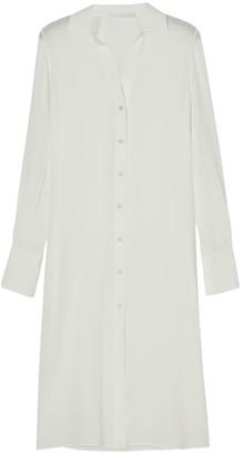 Bamford Cream Silk Flow Shirt Dress