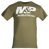 Smith & Wesson Men's Distressed Logo M&P by T Shirt - Green