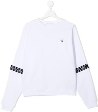 Calvin Klein Kids TEEN logo strip sweatshirt