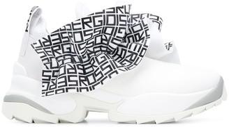 Sergio Rossi Logo Ruffle Sneakers