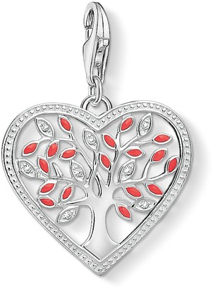 Thomas Sabo Women Charm Pendant Heart Tree Of Love 925 Sterling Silver 1504-041-27