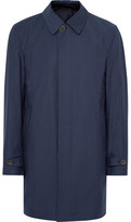 Canali Slim-Fit Reversible Wool and Shell Raincoat