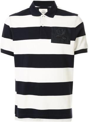 Kent & Curwen Striped Rose Patch Polo Shirt