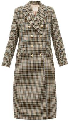 Rebecca Taylor Double-breasted Houndstooth Wool-blend Coat - Womens - Beige Multi