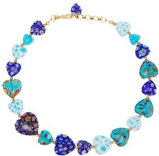 Brinker & Eliza Higher Love gold-tone beaded necklace