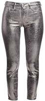 L'Agence Margot Metallic High-Rise Skinny Jeans