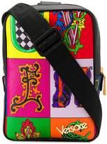 Versace Alphabet Print sling backpack