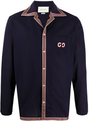 Gucci Long-Sleeved Polo Shirt