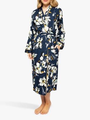 Cyberjammies Alexa Floral Print Dressing Gown, Navy