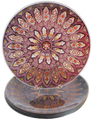 Behrenberg Glass Co. Stained Glass Decorative Plates, Set of 6