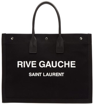 Saint Laurent Neo Logo-print Canvas Tote Bag - Black Multi