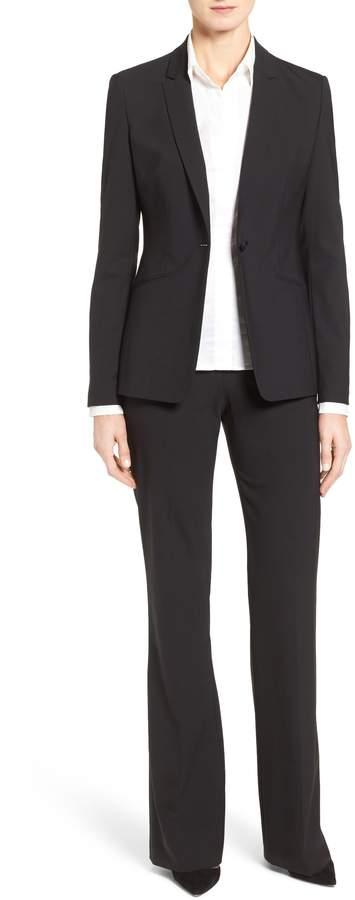 BOSS Tulea Side Zip Tropical Stretch Wool Trousers