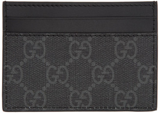Gucci Black GG Kingsnake Card Holder