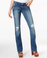 GUESS Ripped Mini Bootcut Jeans