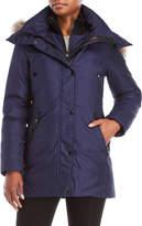 Andrew Marc Real Fur Trim Hooded Down Coat