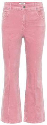 Etoile Isabel Marant Anyree cropped velvet pants