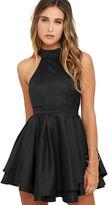 LuLu*s Dress Rehearsal Black Skater Dress