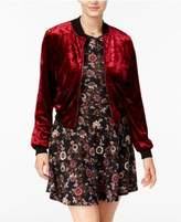 Teeze Me Juniors' Bomber Jacket and Fit & Flare Dress