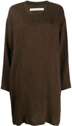 Raquel Allegra Loose Fit Textured Sweatshirt Dress