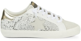 Vintage Havana Snake-Print Mixed-Media Sneakers