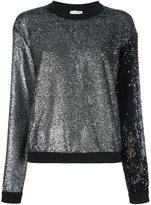Sonia Rykiel glitter sweatshirt - women - Cotton/Acrylic/Polyamide/Polyethylene Furanoate - M