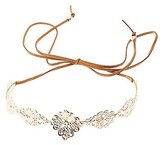 Charlotte Russe Embellished Filigree Crown Headband