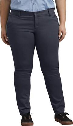 Dickies Womens Mid-Rise Skinny Stretch Twill Pant Khakis