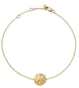 Bloomingdale's 14K Yellow Gold Sand Dollar Ankle Bracelet - 100% Exclusive