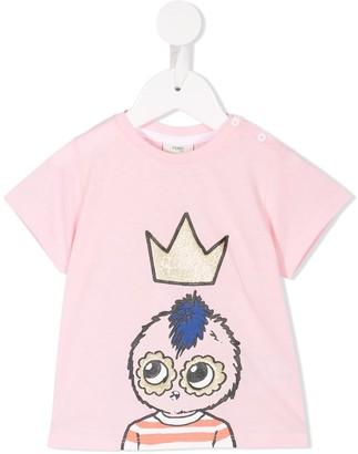 Fendi crown print T-shirt