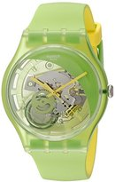 Swatch Men's SUOG110 Analog Display Quartz Green Watch
