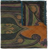 Etro patterned scarf - men - Silk/Wool - One Size