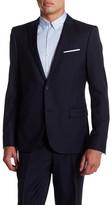 The Kooples Two Button Peak Lapel Wool Suit Jacket