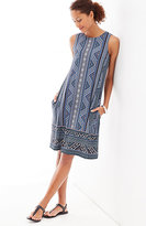 J. Jill Mixed-Print A-Line Knit Dress