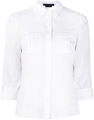 Alice + Olivia Flap Pocket-Detail Shirt