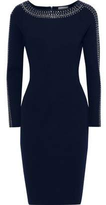 Milly Crystal-embellished Stretch-knit Dress
