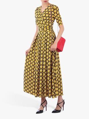 Jolie Moi Sleeved Jersey Maxi Dress, Yellow