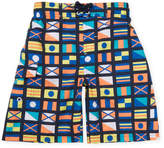 Original Penguin Printed Flag Swim Shorts