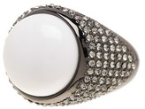 House Of Harlow Embellished White Agate Ring